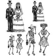Tim Holtz Day Of The Dead #2 Cling Stamp Set