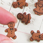 Gingerbread People Buttons Set