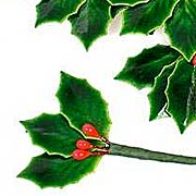 Lacquered Holly & Berry Picks