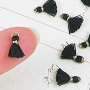 10mm Tiny Tassels - Black