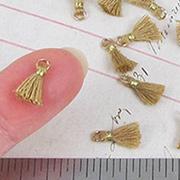 10mm Tiny Tassels - Golden Tan