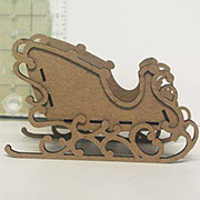 Chipboard Sleigh - Ornament