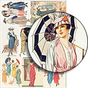 3 Inch Fashion Plates Collage Sheet