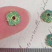 4 Loops Verdigris Bead Caps