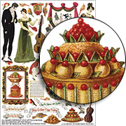 Bring Us Some Figgy Pudding Collage Sheet
