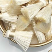 20mm Silky Cream Tassels
