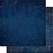 Double Dot Vintage Dark Denim Blue Scrapbook Paper