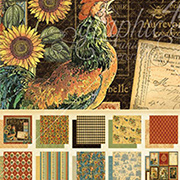 French Country 12x12 Paper Pad - Deluxe Collector&#39s Edition