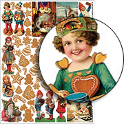 Gingerbead Collage Sheet