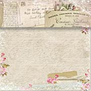 House of Roses Old Letters Scrapbook Paper