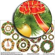 Holiday Wreaths Half Sheet