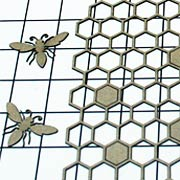 Honeycomb & Bees Die-Cut Chipboard Set