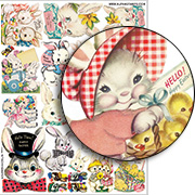 Kitschy Easter Collage Sheet