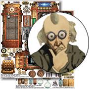 Mad Scientist Laboratory Collage 2-Sheet Set