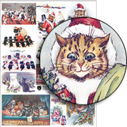 Meowy Christmas Collage Sheet