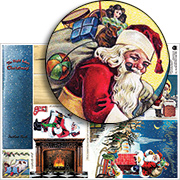 Night Before Xmas Book Box Collage Sheet, Part 2