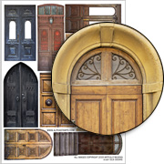 Old Doors Collage Sheet