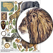 Out of Africa Collage Sheet