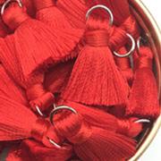 20mm Silky Red Tassels
