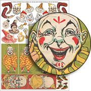 Reversible Clowns Collage Sheet