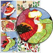 Santa Sleigh Collage Sheet