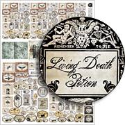 Secret Spell Book Labels Collage Sheet