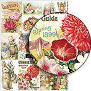 Spring Floral Mini Kit Collage Sheet