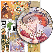 The Mad Hatter Collage Sheet