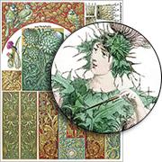 Thistles Collage Sheet