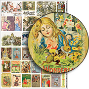 Tiny Alice Book Covers Collage Sheet