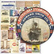 Vintage Travel Tags & Hardware Collage Sheet