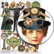 Voyages Extraordinaires #3 Collage Sheet