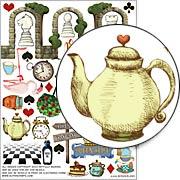 Wonderland Collage Sheet