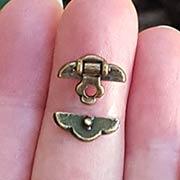 Antique Brass Mini Trunk Lock