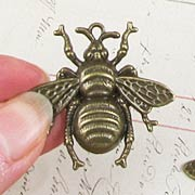Giant Bronze Bee Charm