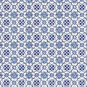 Small Blue Mosaic Scrapbook Paper
