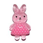 Pink Acrylic Bunny Cabochon