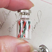 Filled Candy Cane Jar