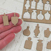 Small Chipboard Apothecary Jar Shapes
