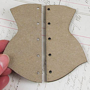 Die-Cut Chipboard Corset*