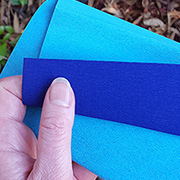 Heavy Double-Sided Crepe Paper - Aqua Royal