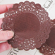 4 Inch Brown Glassine Paper Doilies