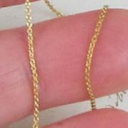 Brass Fine Link Chain