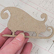 Chipboard Sleigh Die-Cut Shapes*