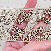 Chipboard Border Strips - Floral