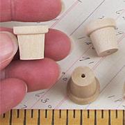 Tiny Wooden Flower Pots