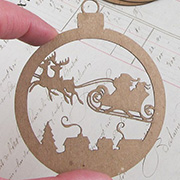 Flying Sleigh Ornament Layers