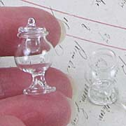 Tiny Glass Jar with Lid