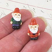 Mini Ceramic Garden Gnome Beads