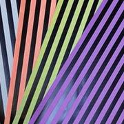 Halloween Black Foiled Stripes Scrapbook Paper Set